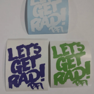 LET'S GET RAD STICKER